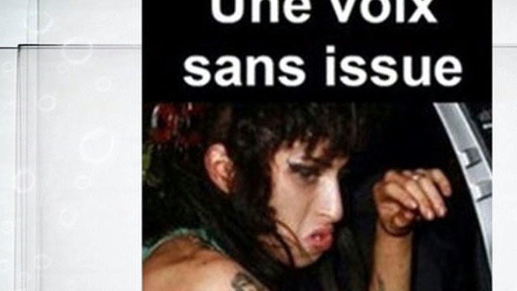 Amy Winehouse bajo los efectos de las drogascomo una campaña antidrogas