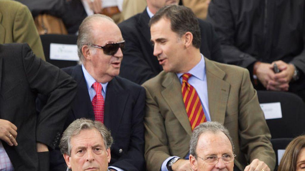 El Rey el Príncipe Felipe, en la Copa Davis