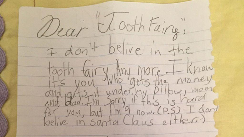 Una niña de 9 años deja atónitos a sus padres con una carta