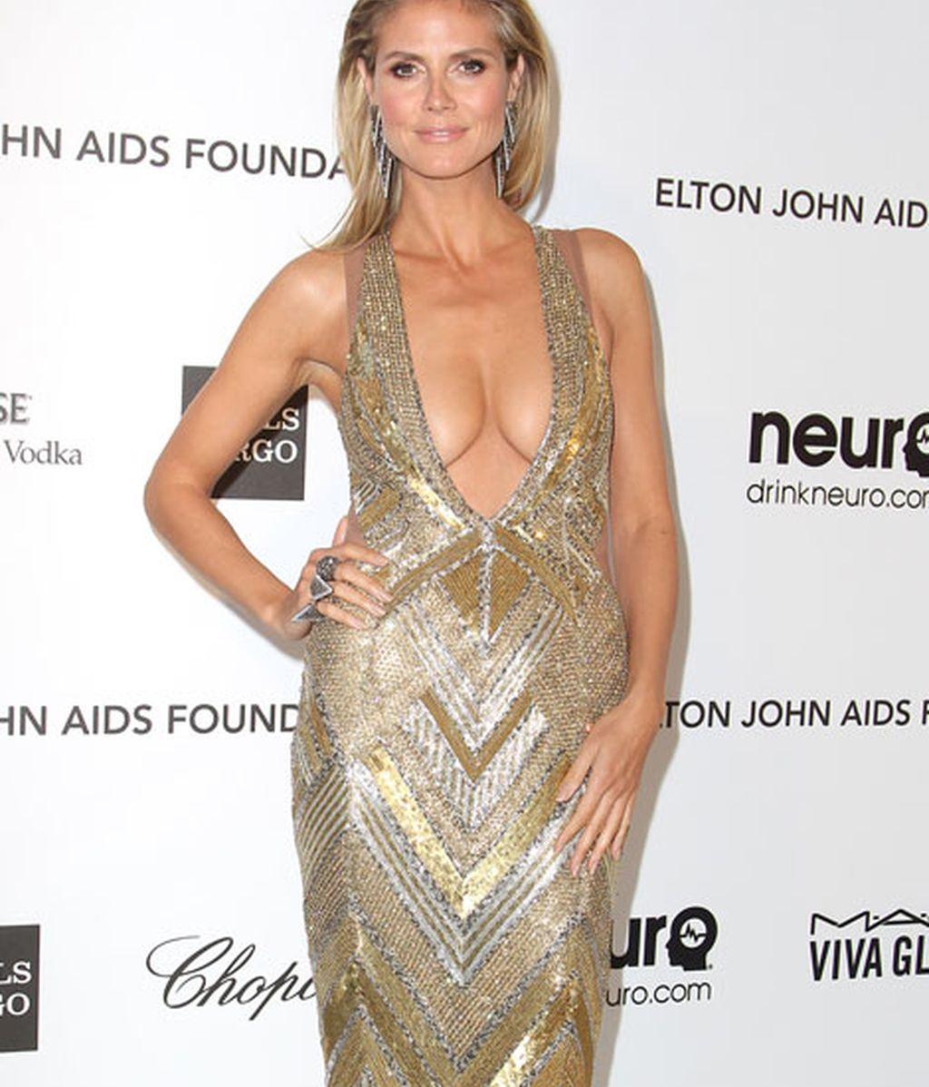 Heidi Klum, escote de vértigo