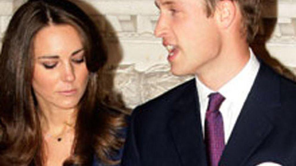 Kate y William, el día de la pedida de mano, con el anillo.