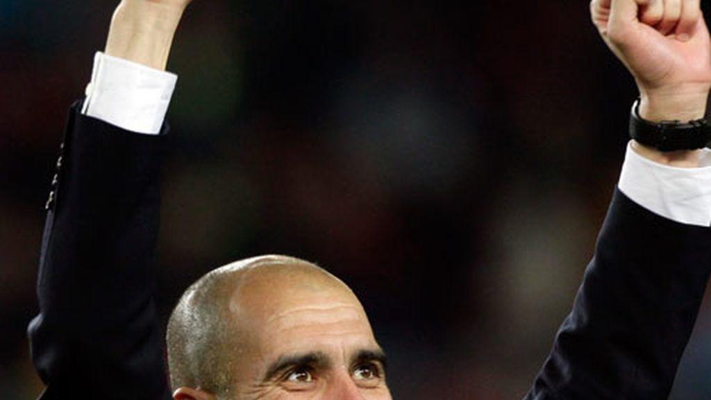 Guardiola espía a su rival