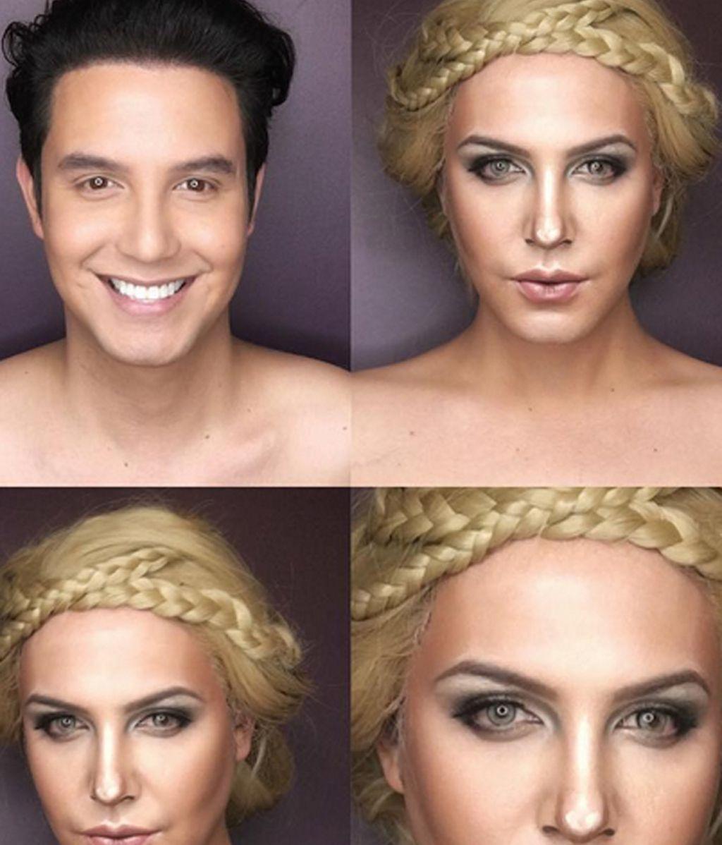 La logradísima transformación de Paolo Ballesteros en Charlize Theron
