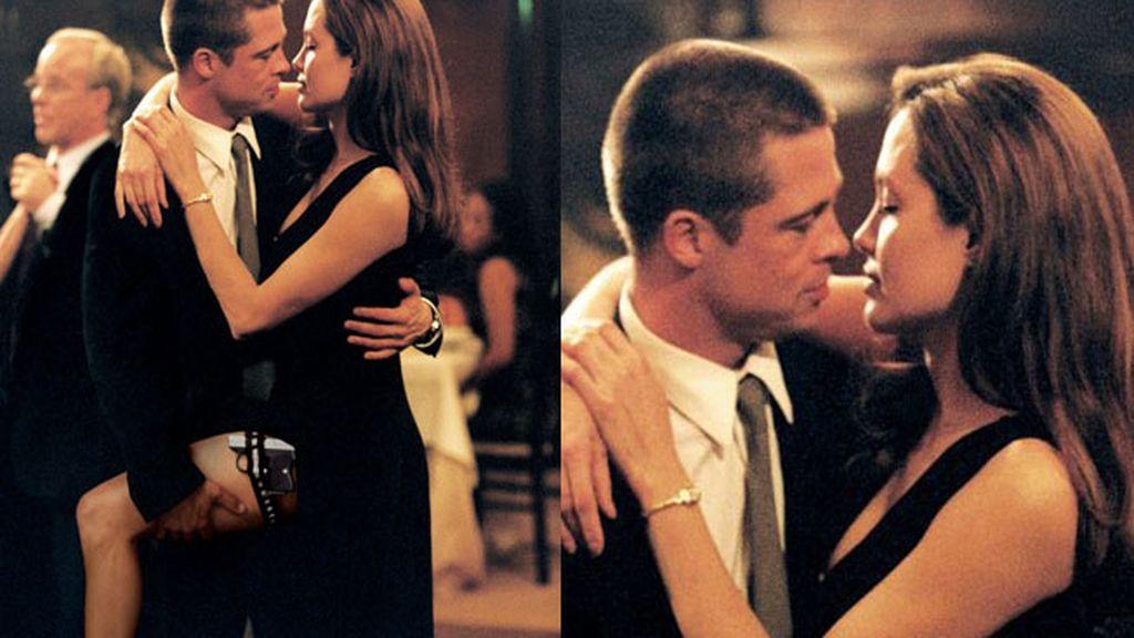 Brad Pitt y Angelina Jolie en 'Sr. y Sra. Smith'