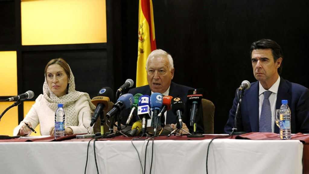 Ministros españoles se reúnen con el presidente iraní, Hassan Rohaní
