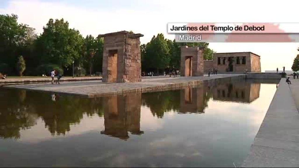 Jardines del Templo de Debod en Madrid