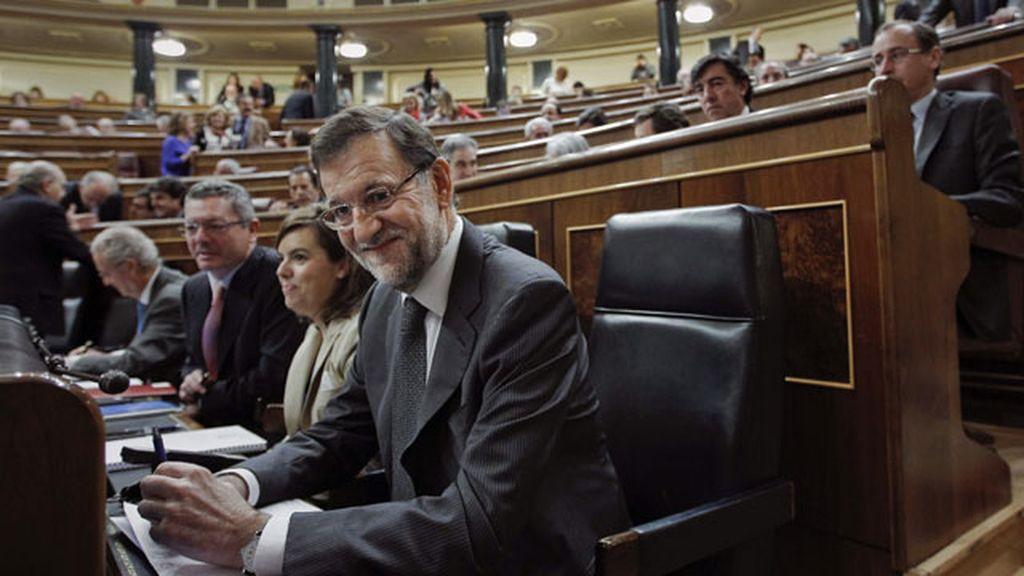 Mariano Rajoy durante la sesión de control en el Congreso