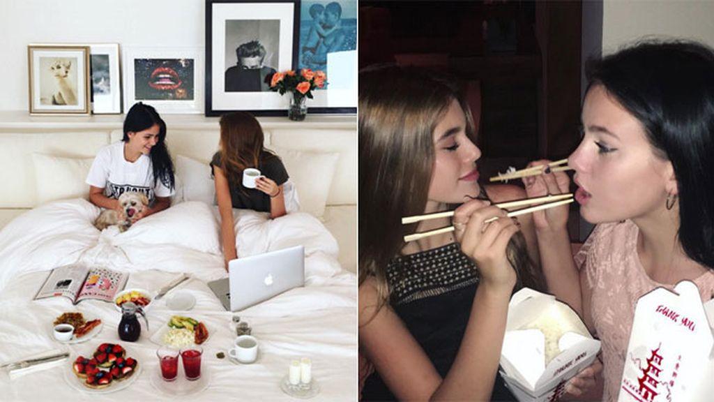 Disfruta con sus amigas: desayuno en la cama o comida china, sus planes preferidos