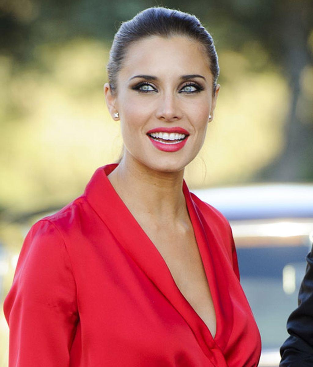 Pilar Rubio, espectacular de rojo