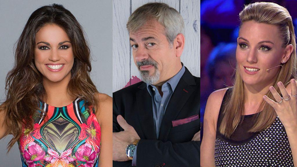 Carlos Sobera, Lara Álvarez y Edurne, comensales en 'GH VIP'
