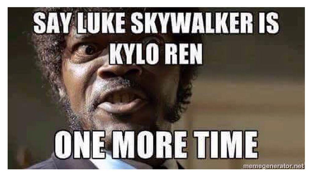 """""""Di que Luke Skywalker es Kylo Ren una vez más"""""""