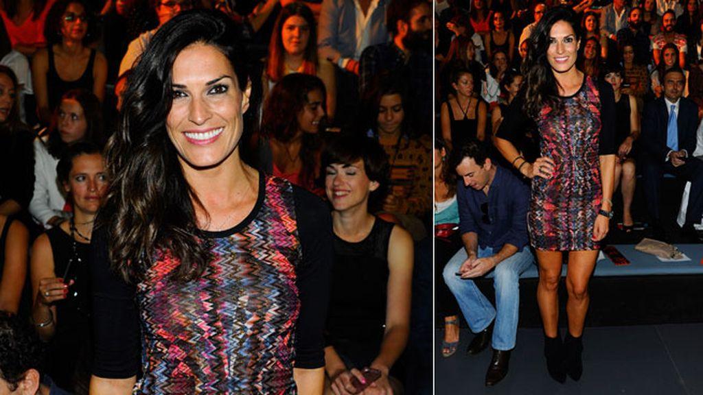 Verónica Hidalgo no faltó al desfile de Andrés Sardá