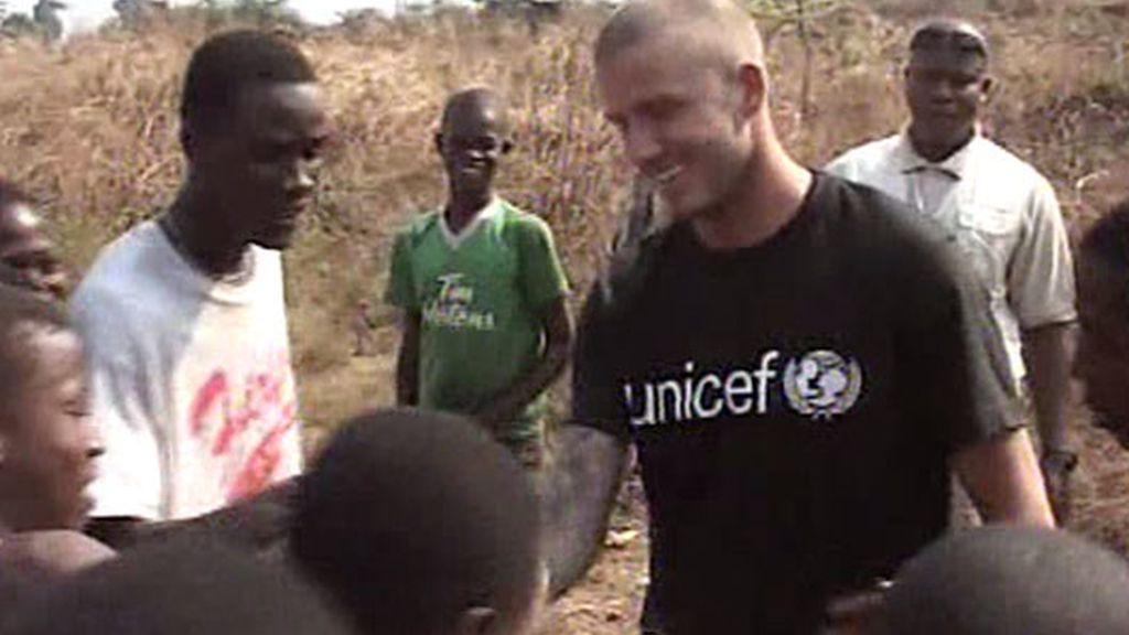La llegada de Beckham a Sierra Leona