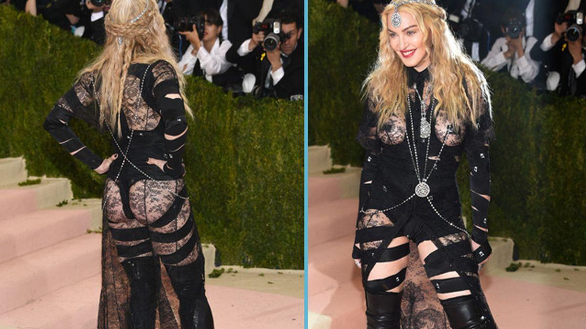 Madonna con el vestido de transparencias por el que ha sido duramente criticada