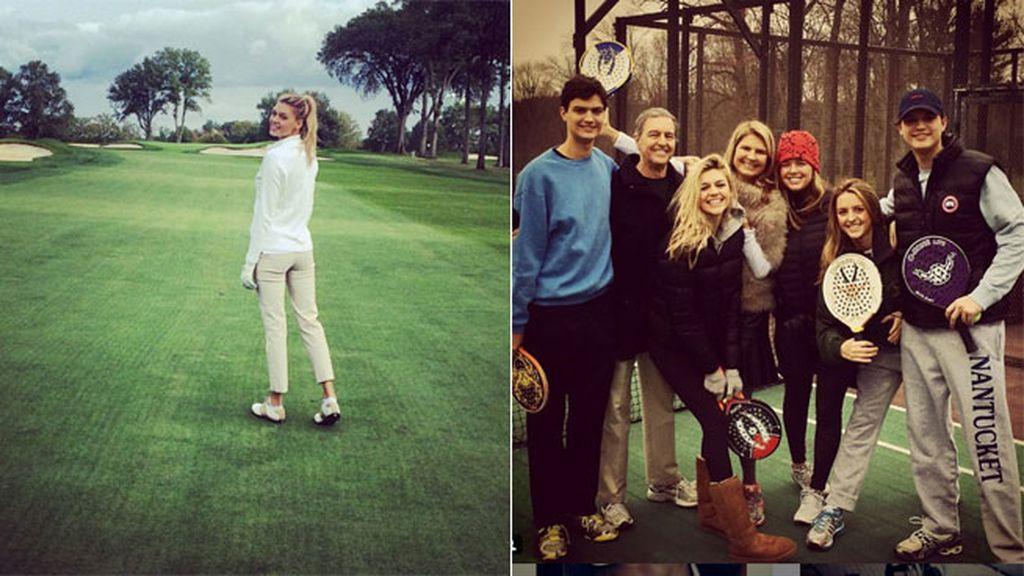 Estudió en la universidad de Georgetown y formó parte de su equipo de golf