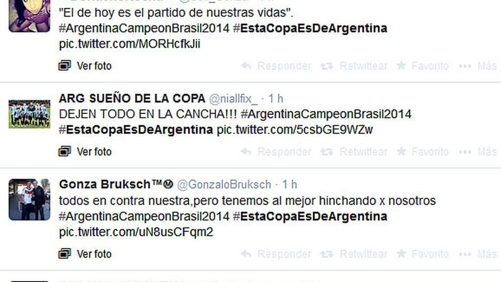 Twitter previa Alemania-Argentina