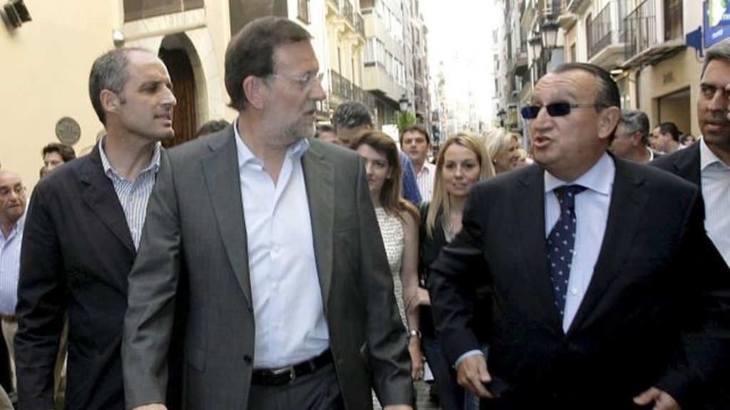 Rajoy con Camps y Fabra
