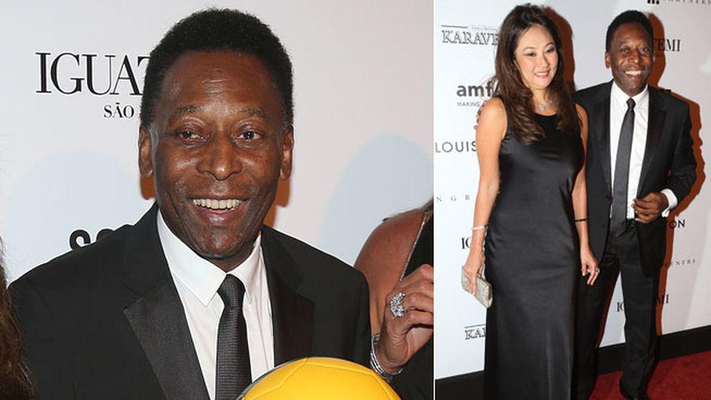 El futbolista Pelé y su mujer Marcia Cibele