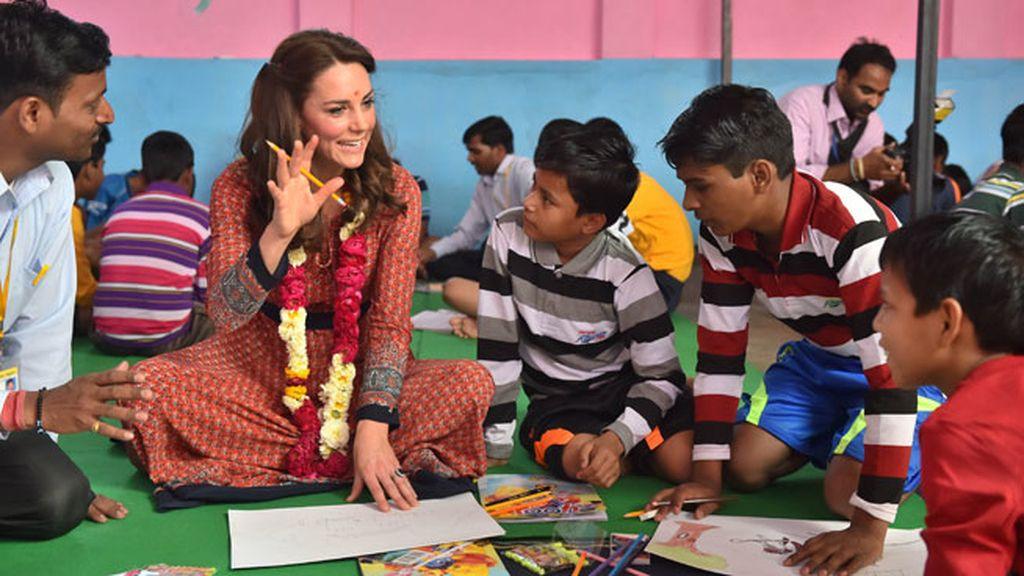 Han compartido momentos con niños de las zonas más desfavorecidas