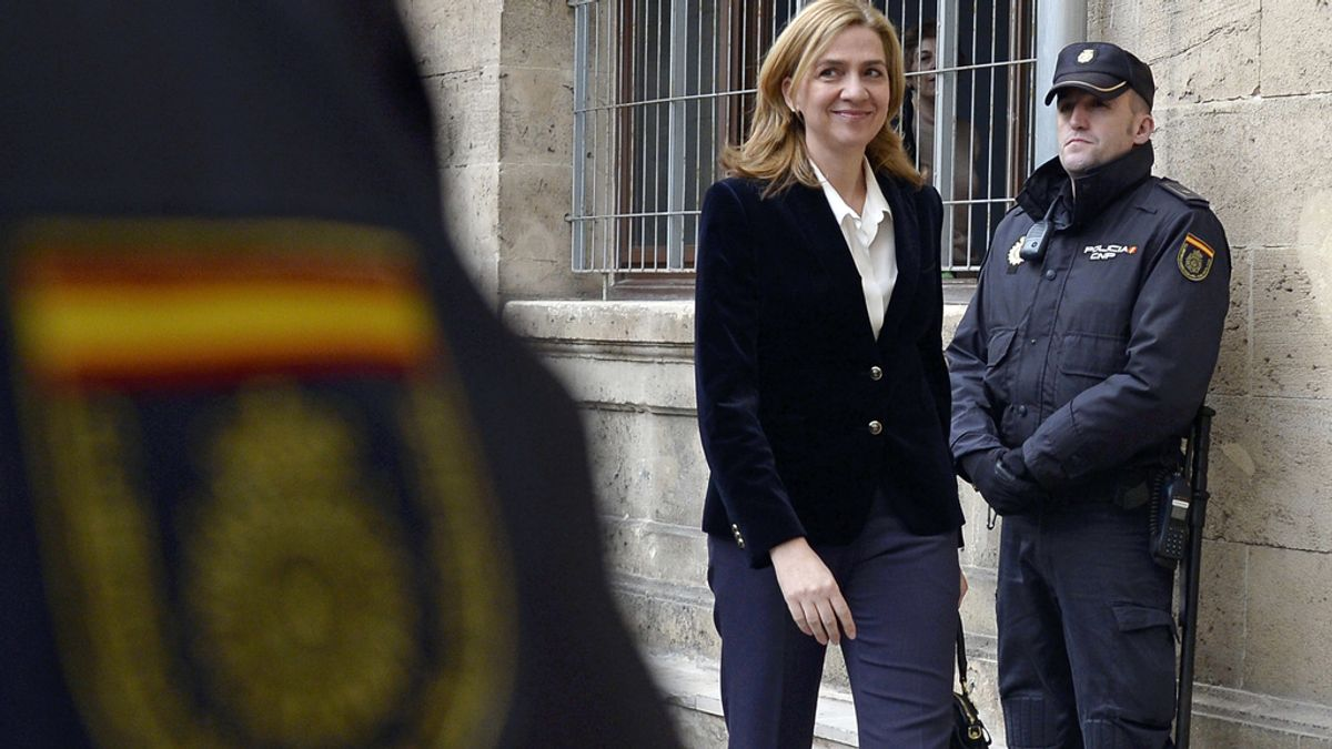 Infanta Cristina continúa imputada por delito fiscal