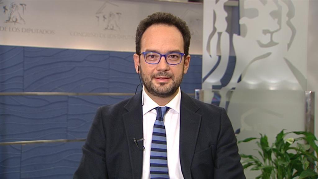 Antonio Hernando, en Informativos Telecinco