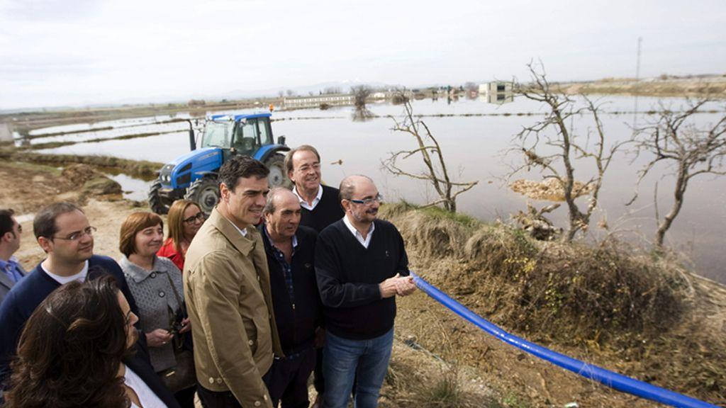 Pedro Sánchez visita por segunda vez las zonas afectadas por la crecida del Ebro