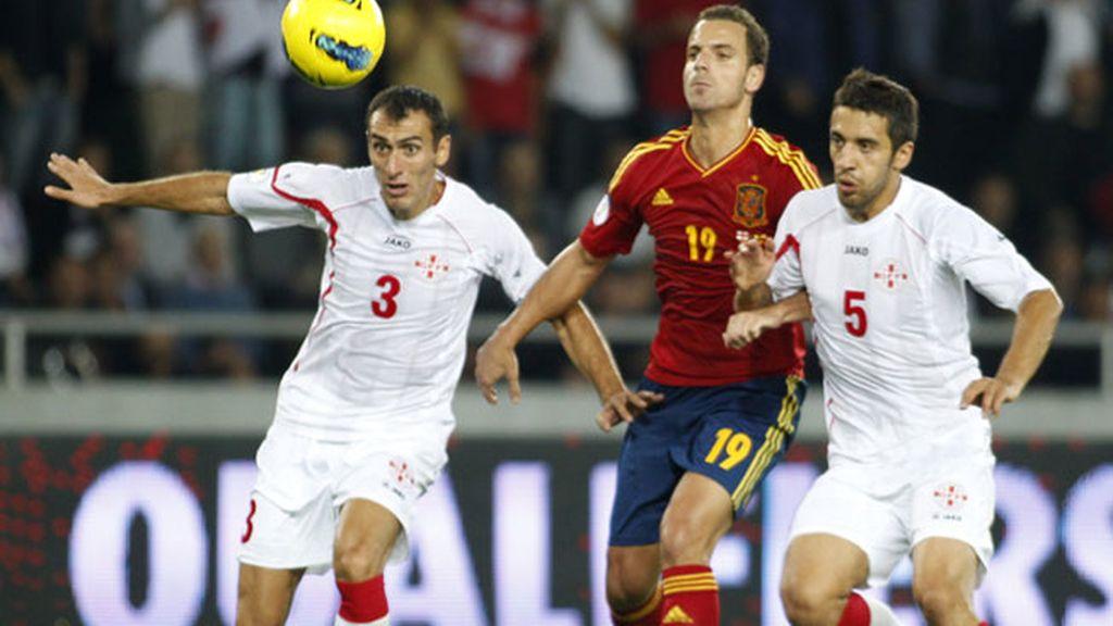 Roberto Soldado, protagonista y autor del gol de La Roja