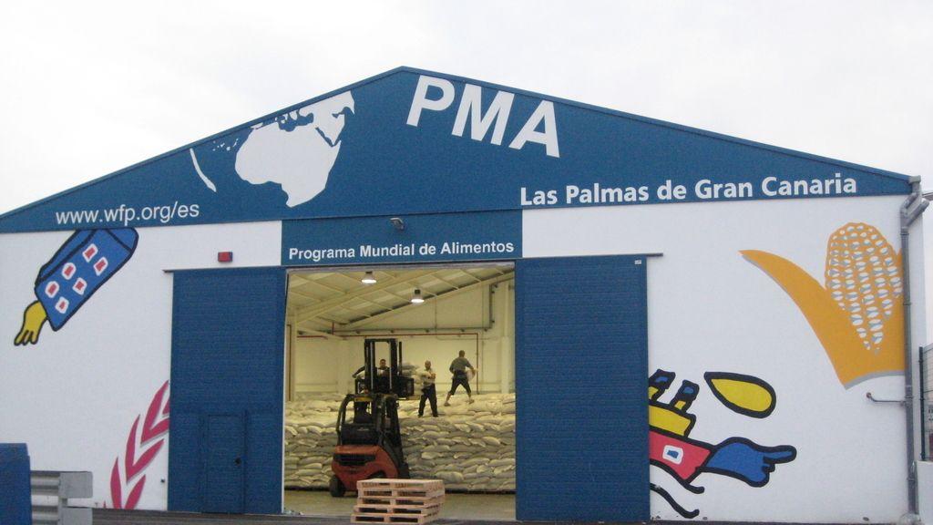 Almacén del Programa Mundial de Alimentos de la ONU en las Palmas de Gran Canarias