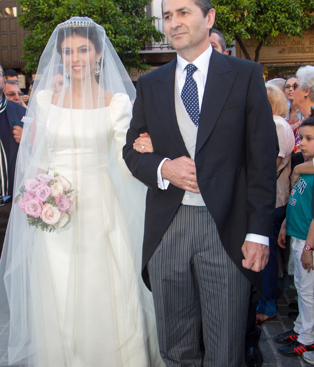 Eva Morejón con su padre