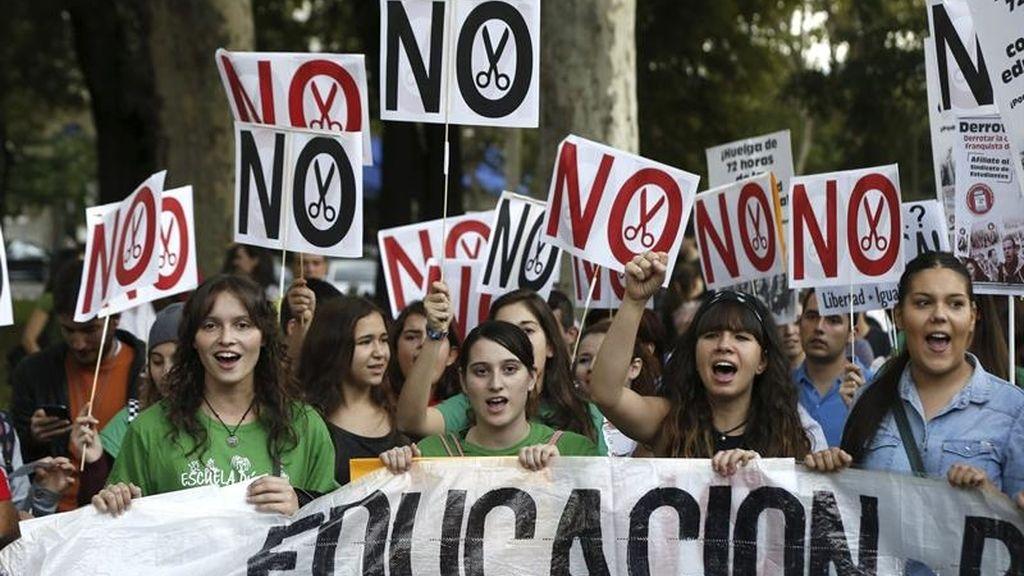 Los estudiantes vuelven a marchar contra los recortes en Educación