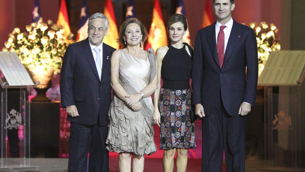 Los Príncipes de Asturias en Chile