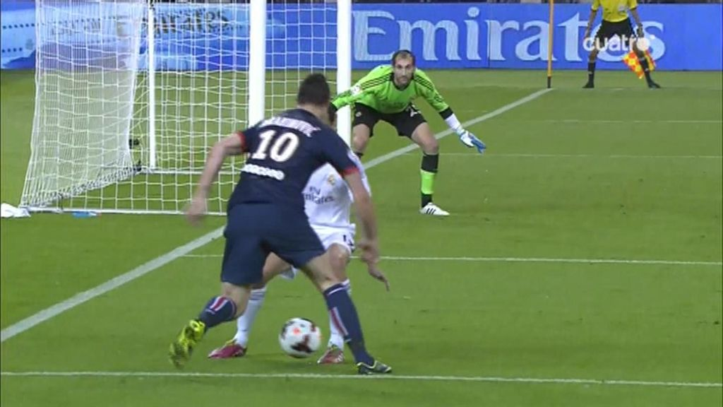 Ibrahimovic tuvo ocasiones muy claras
