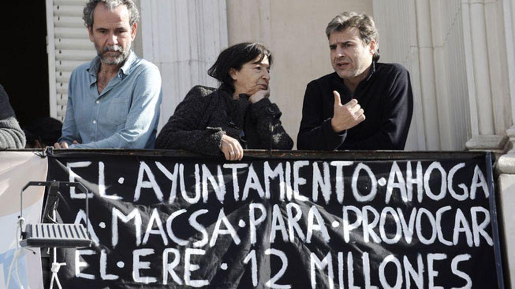 Los actores se encierran en el Teatro Español para apoyar la huelga general