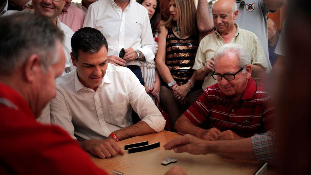 Pedro Sanchez, de campaña