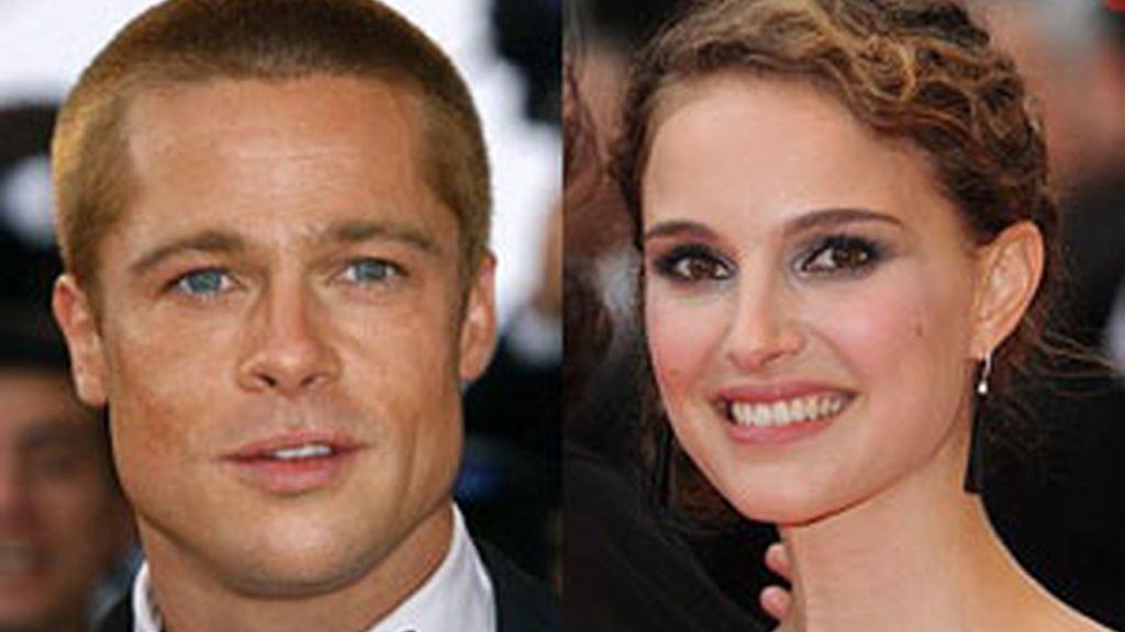 Brad Pitt y Natalie Portman tienen caras simétricas. Fotos: PA