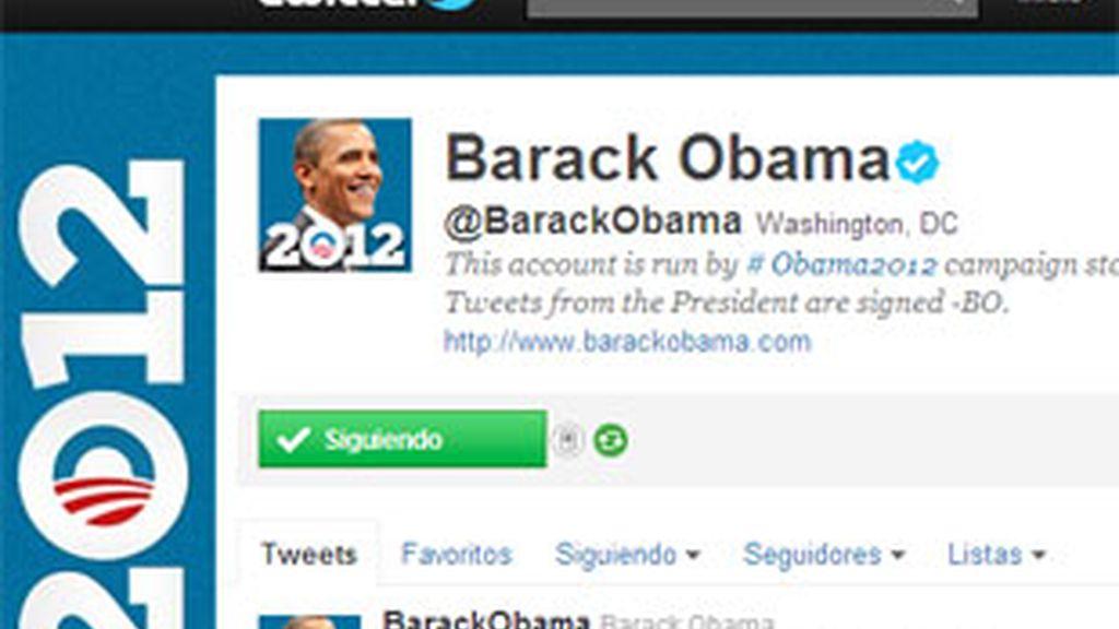 El Twitter de Barack Obama.