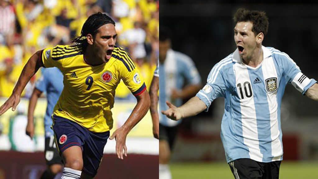 Falcao y Messi, selecciones