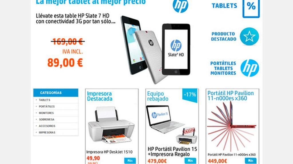 HP, HP España, venta online, venta en internet