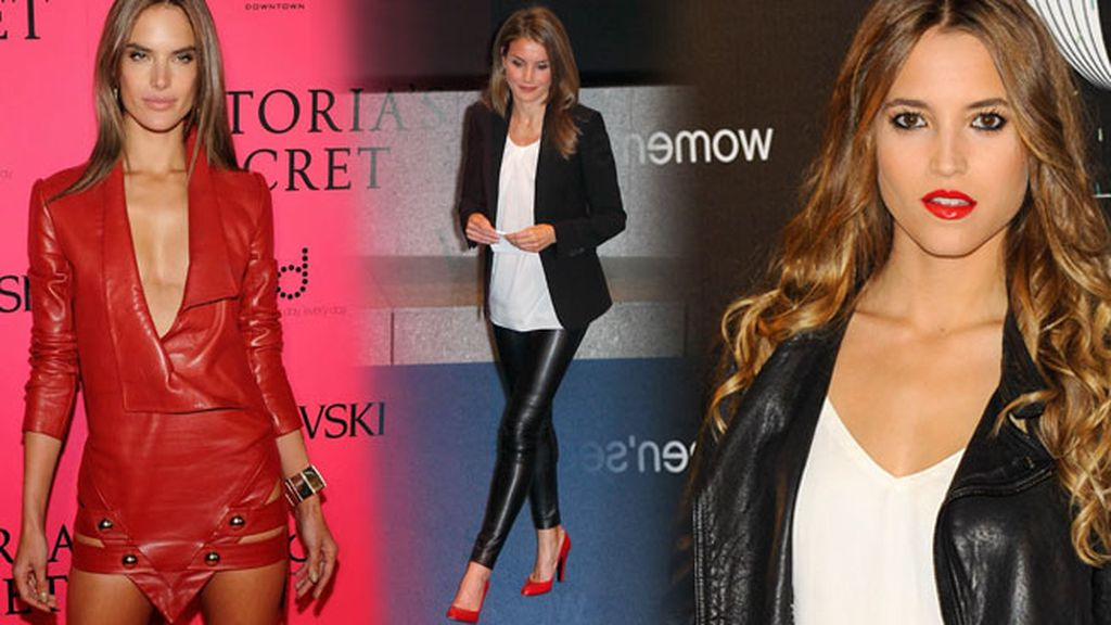 Cuero negro, rojo, amarillo... los vestidos 'leather' preferidos de las celebrities