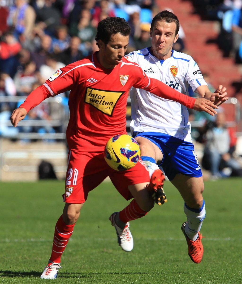 El Zaragoza se enfrenta al Sevilla en La Romareda. Foto: EFE