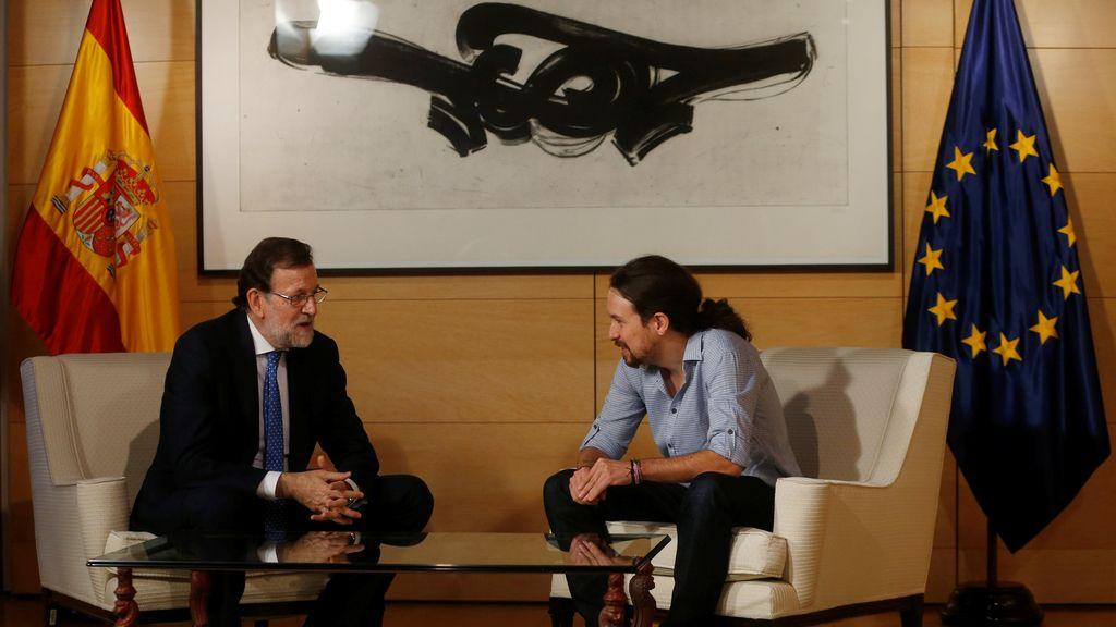 """Rajoy traslada a Iglesias la """"imperiosa necesidad"""" de evitar otras elecciones"""