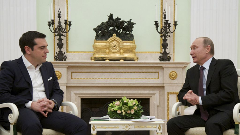 Putin recibe a Tsipras en el Kremlin