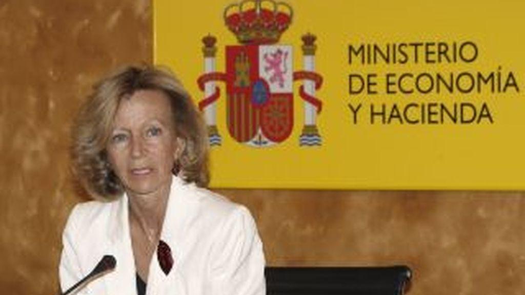 Imagen de archivo de la vicepresidenta segunda y ministra de Economía, Elena Salgado. Foto: EFE