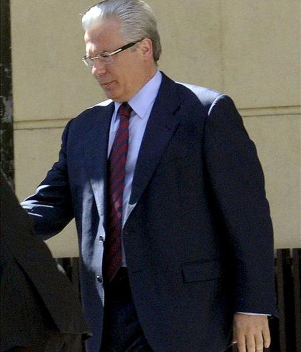 El juez Baltasar Garzón a su salida hoy de la Audiencia Nacional, en Madrid. EFE