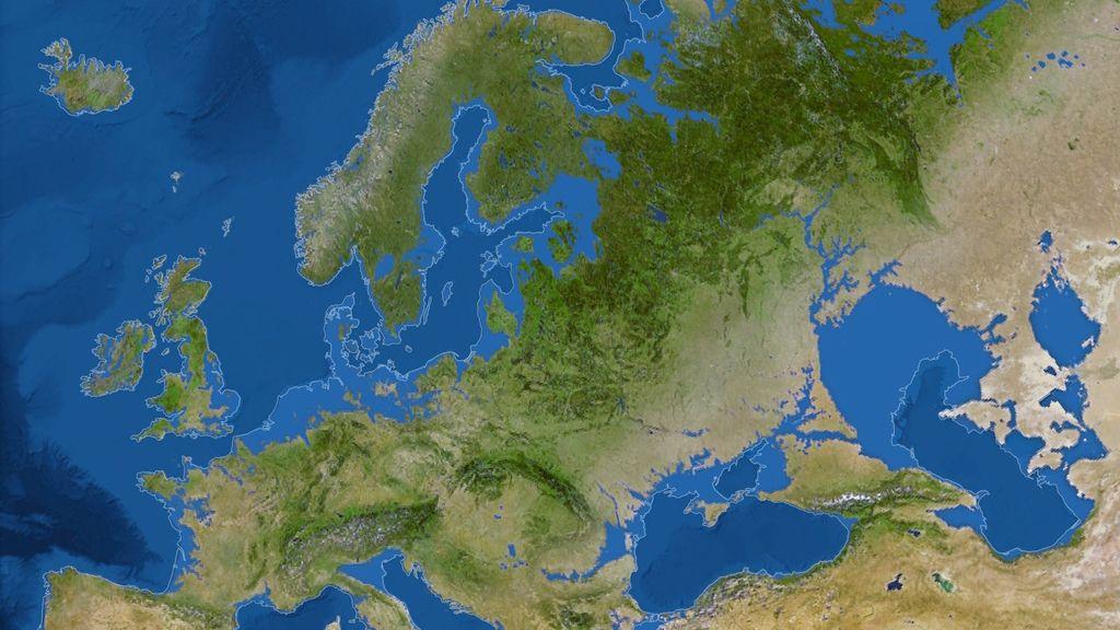 Mapa de Europa de National Geographic