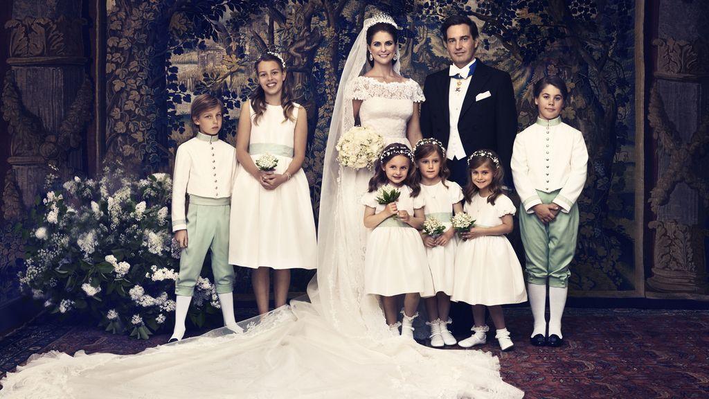 Foto de familia Magdalena de Suecia