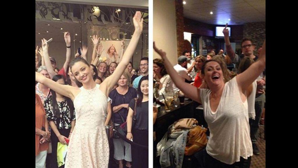 La humorista australiana recrea la euforia de Miranda Kerr
