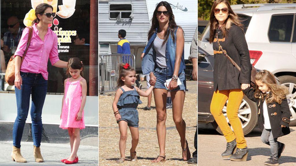 Actrices y modelos complementan sus looks con sus hijos
