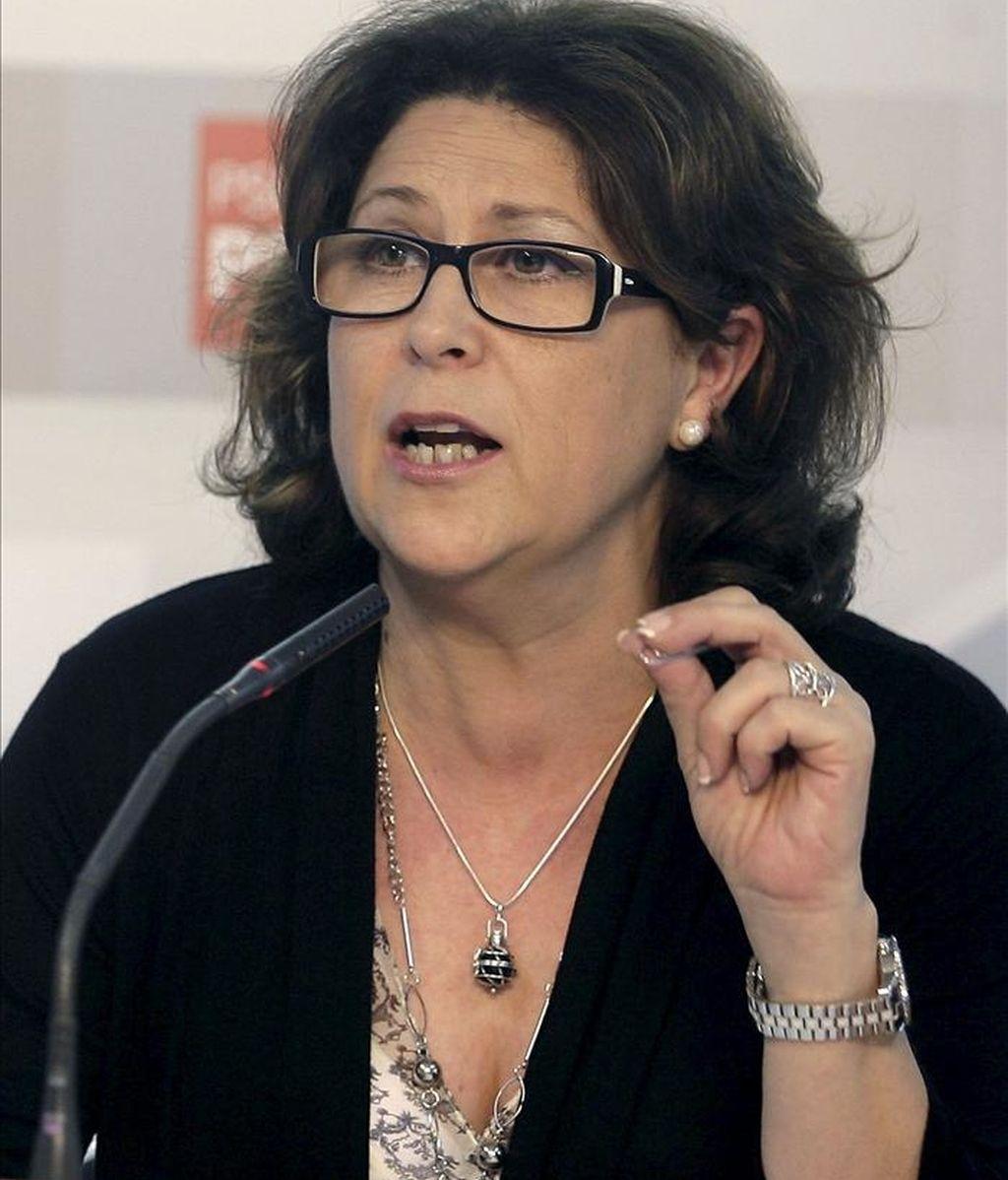 La secretaria de Bienestar Social de la comisión ejecutiva federal del PSOE, Marisol Pérez. EFE/Archivo