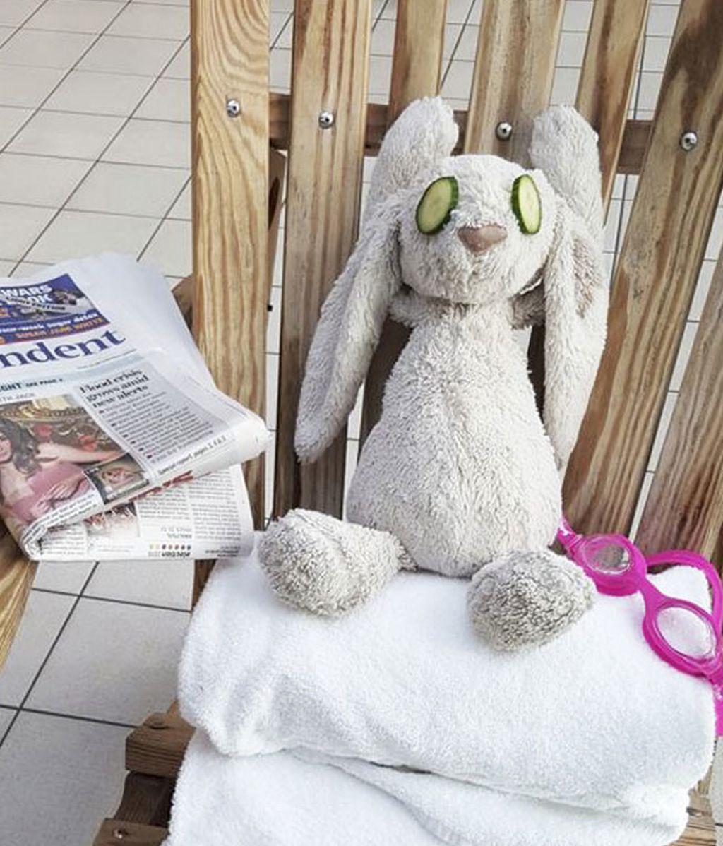 Un conejito de felpa es tratado como un VIP en un hotel después de que su dueña lo olvidara